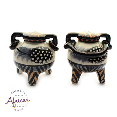 Ceramic Boma Salt and Pepper Set Tribal