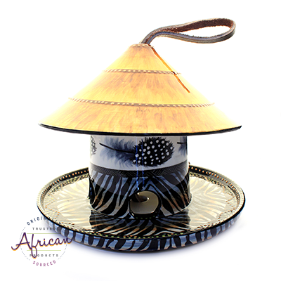 Ceramic Bird Feeders Ndebele Straw Roof