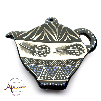 Ceramic Tea Bag Holder Ndebele