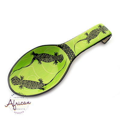 Ceramic Spoon Rest Green Lizard
