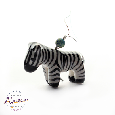 Ceramic Christmas Decoration Zebra