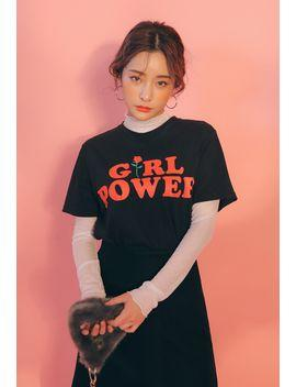 Girl Power T-Shirt in Black - TheVarietyClub.com