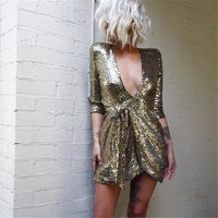 Everything Gold Sequin Party Dress