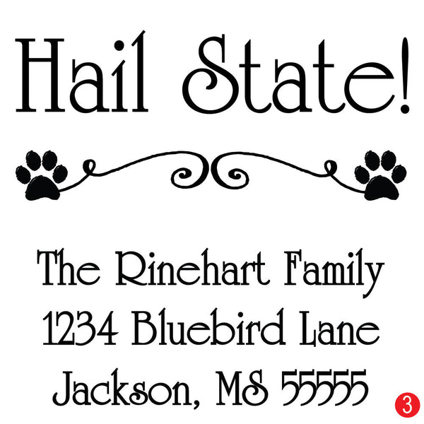 Mississippi State Hail State Address Stamp