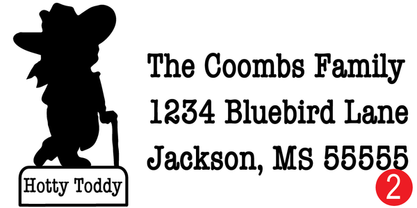 Ole Miss Rebel Customized Address Stamp