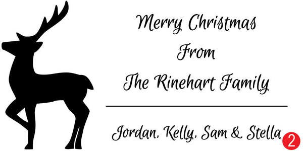 Reindeer Custom Christmas Stamp