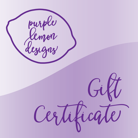 Purple Lemon Designs Gift Certificate