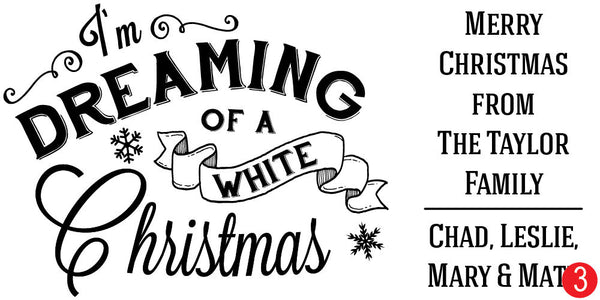 Dreaming of a White Christmas Custom Christmas Stamp