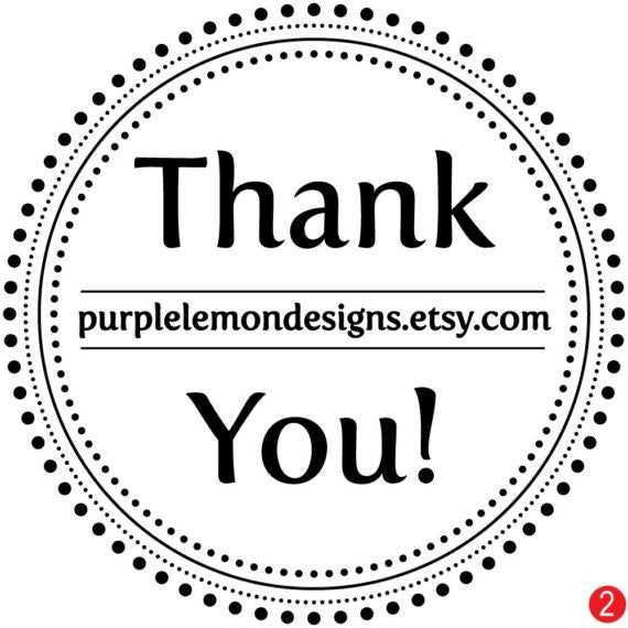 Dottie Thank You Custom Business Stamp