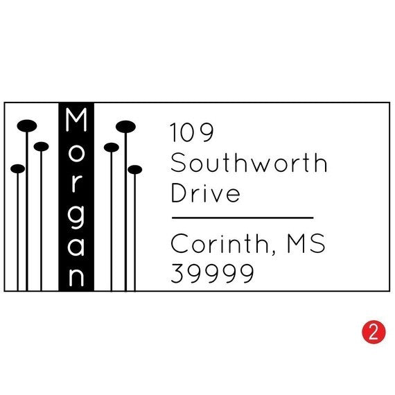 Modern Pods Customized Address Stamp