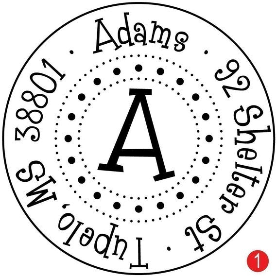 Round Dottie Custom Address Stamp