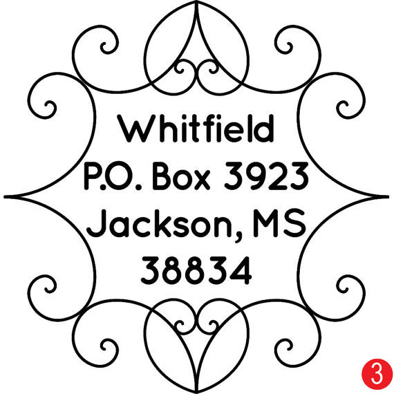 Peaks and Valleys Customized Address Stamp