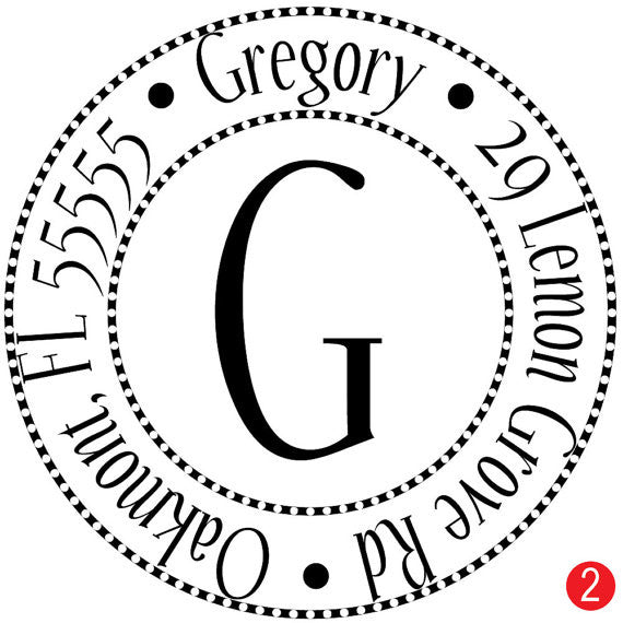 Circles N Circles Personalized Address Stamp