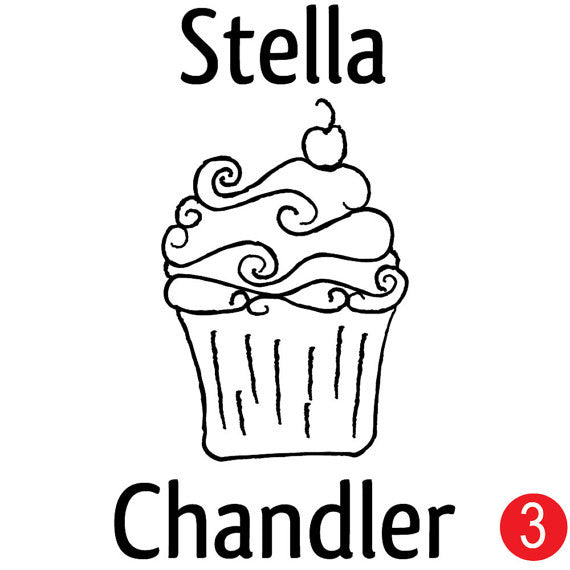Cupcake Personalized Name Stamp