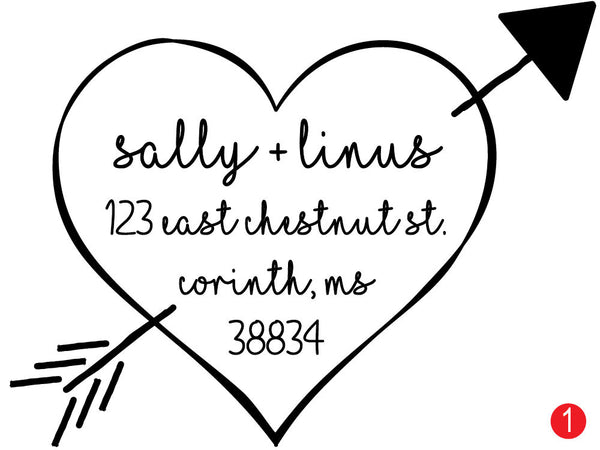Shot Through The Heart Custom Address Stamp