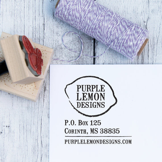 Custom Logo Address Stamp