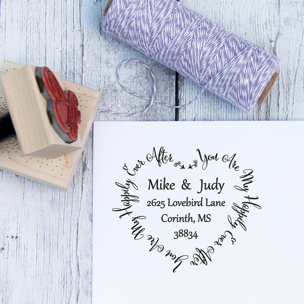 You Are My Happily Ever After Custom Wedding Address Stamp