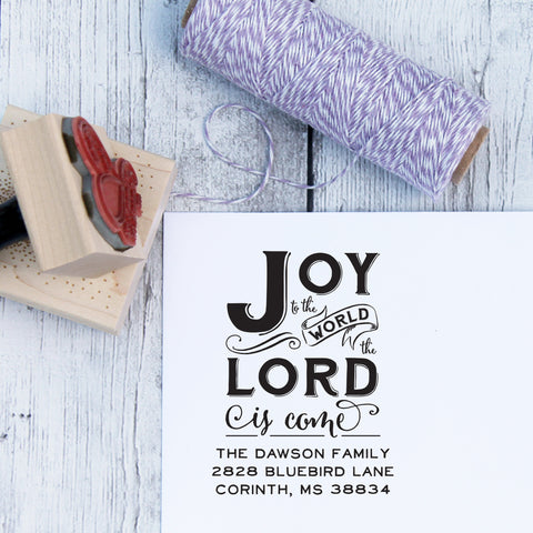 Joy to the World Custom Christmas Stamp
