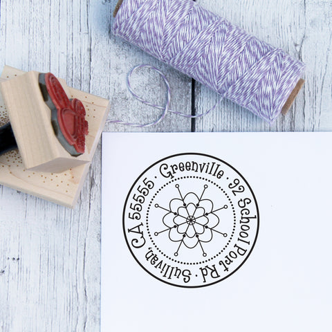 Winter Snowflake Personalized Address Stamp