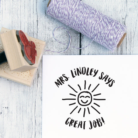 Sunshine Custom Teacher Stamp