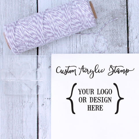 Custom Logo / Custom Design Stamp for Soap - Acrylic Stamp