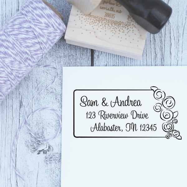 Wedding Bouquet Custom Address Stamp