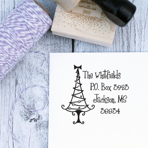 Grinch Christmas Tree Custom Christmas Stamp