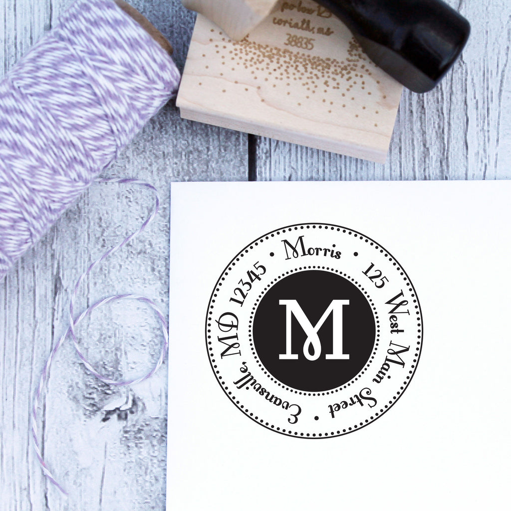 Glam Personalized Address Stamp