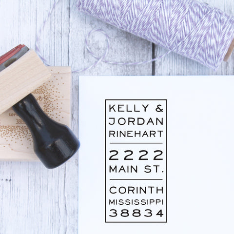 Vertical Custom Return Address Stamp