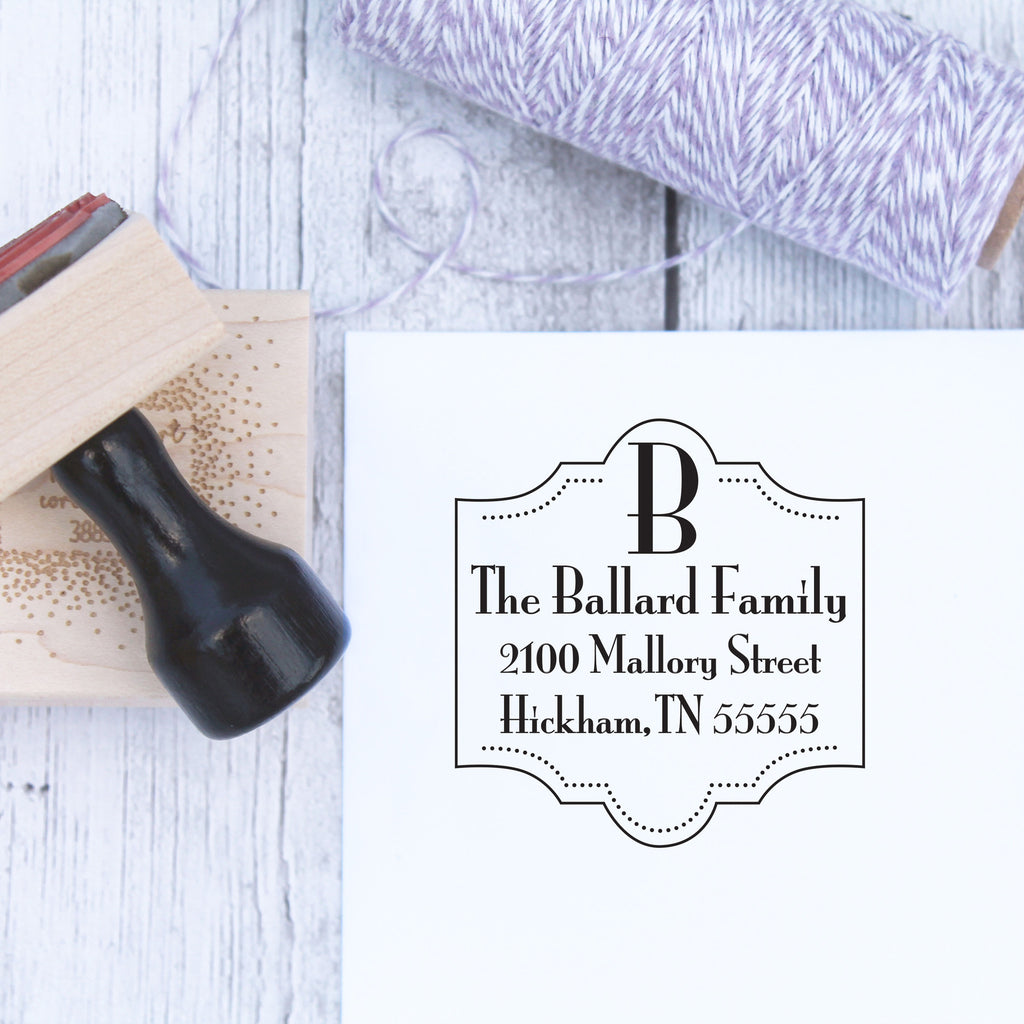 Dottie Scroll Return Address Stamp