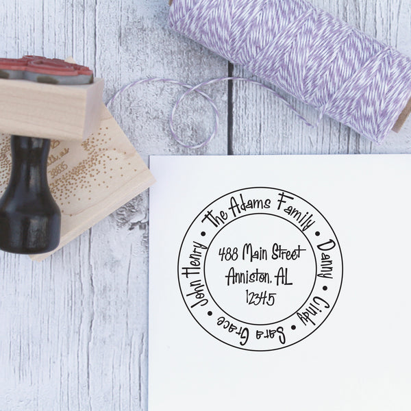 Family Circle Custom Address Stamp