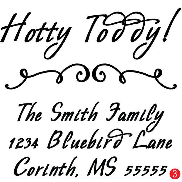 Ole Miss Hotty Toddy Address Stamp