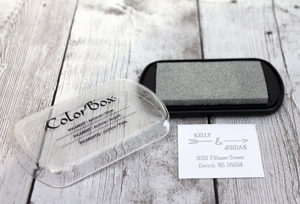 SILVER Color Box Classic Metallic Pigment Ink Pad
