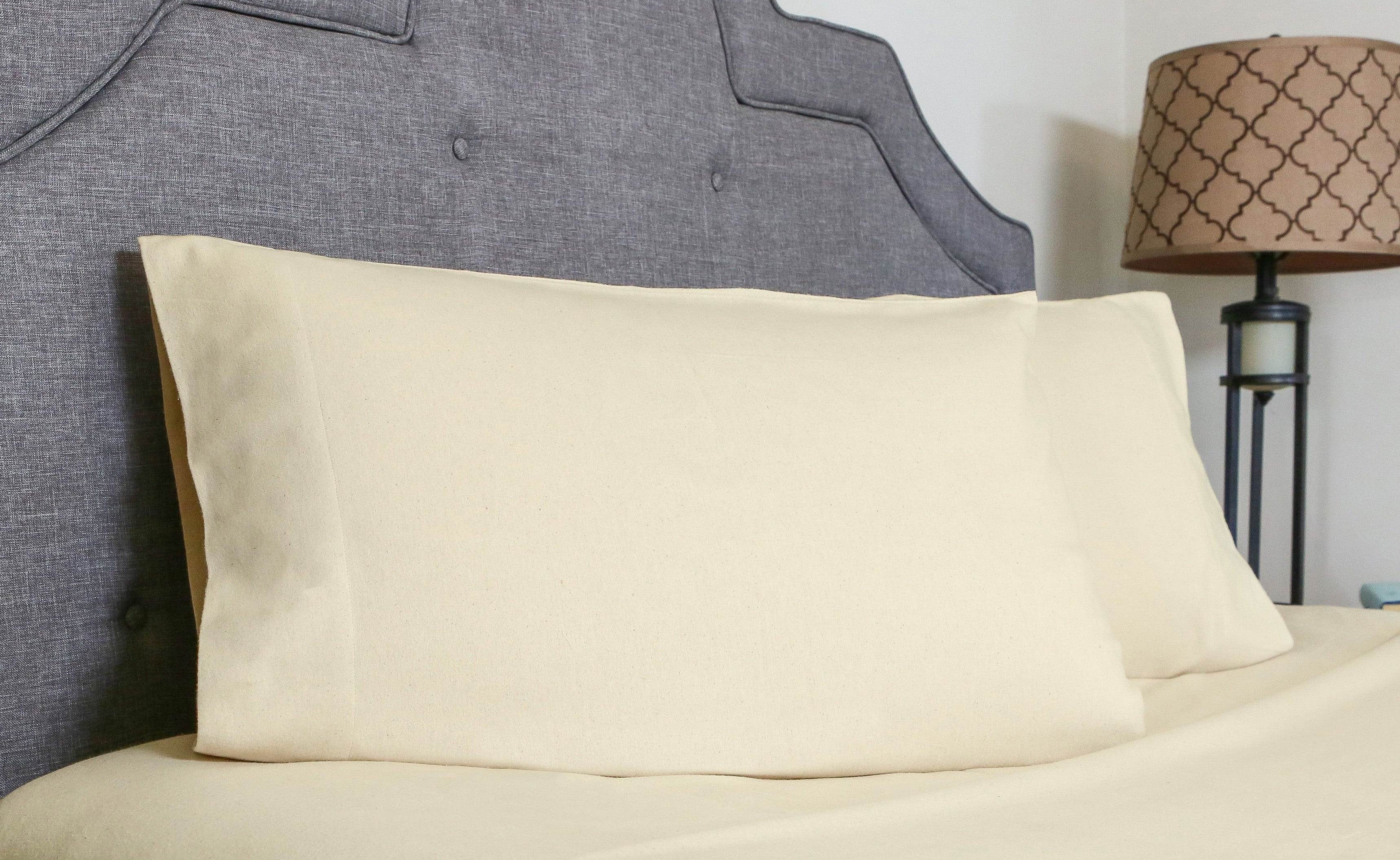 Organic Cotton Flannel Pillow Case set