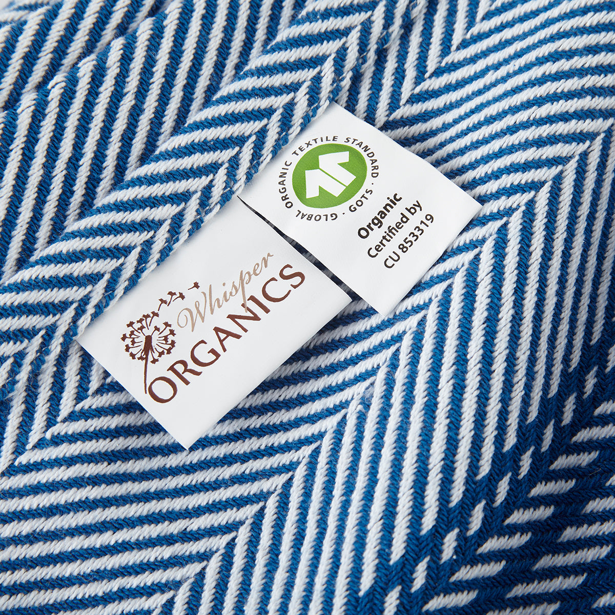 Organic Herringbone Weave Throw Blanket