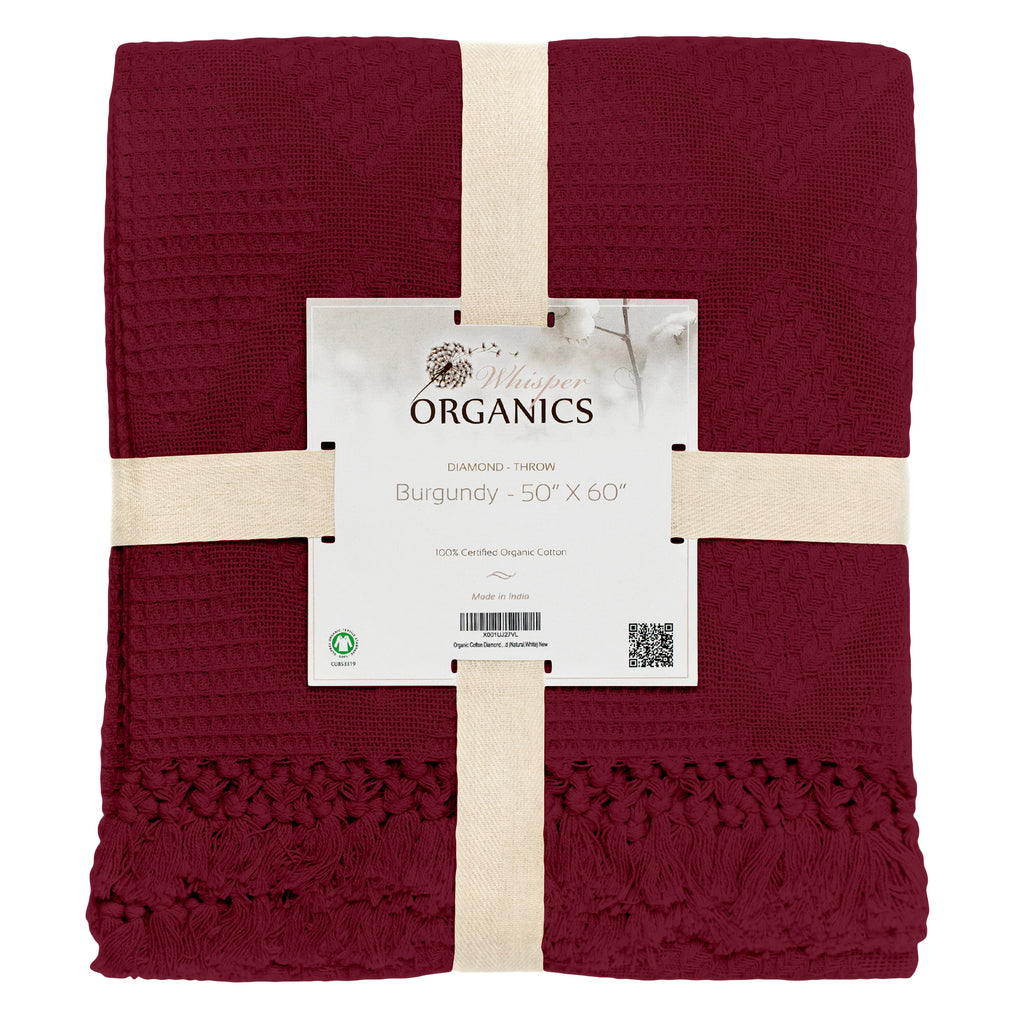 Organic Diamond Throw Blanket
