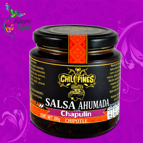 CHILIPINES, SALSA DE CHAPULIN