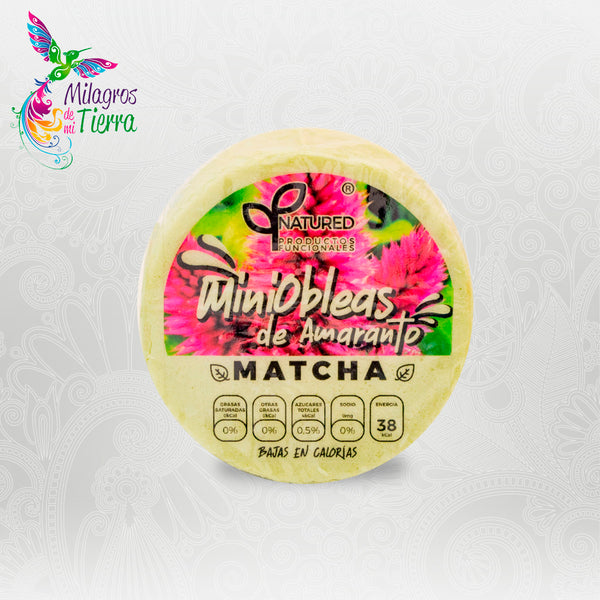 NATURED MINI OBLEA DE MATCHA 50 PZAS