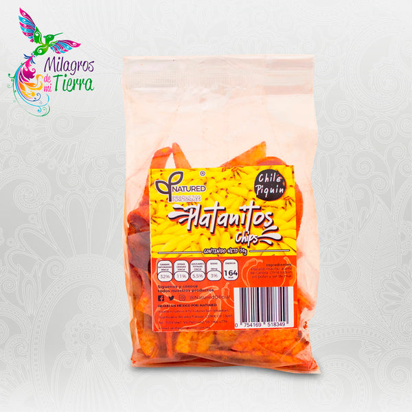 NATURED PLATANITOS CHIPS CON PIQUIN