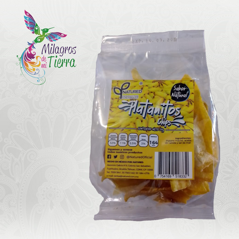 NATURED PLATANITOS CHIPS NATURAL 50 GR