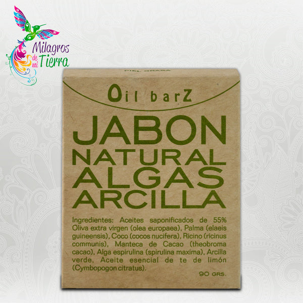 OIL BARZ JABÓN NATURAL ALGAS Y ARCILLA