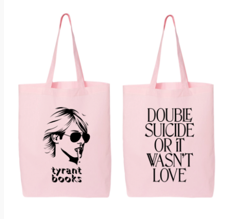 Black on Pink Tyrant Books Tote