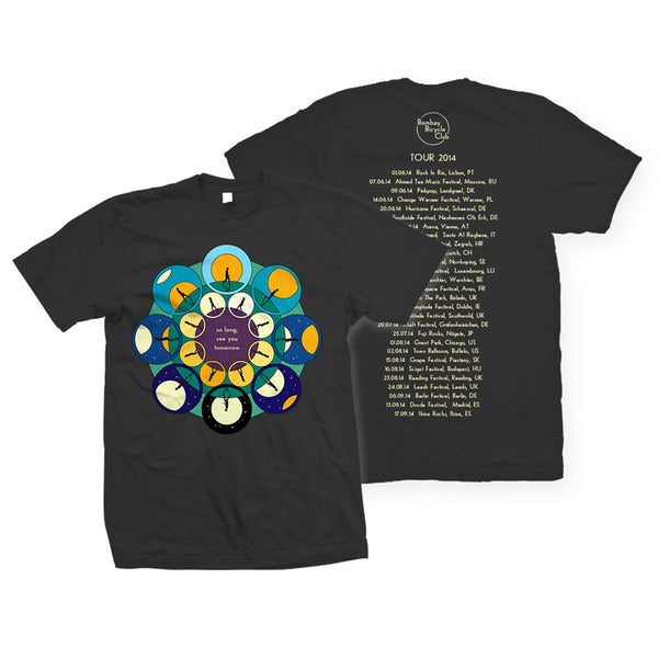 SO LONG SEE YOU TOMORROW SUMMER TOUR 2014 T-SHIRT