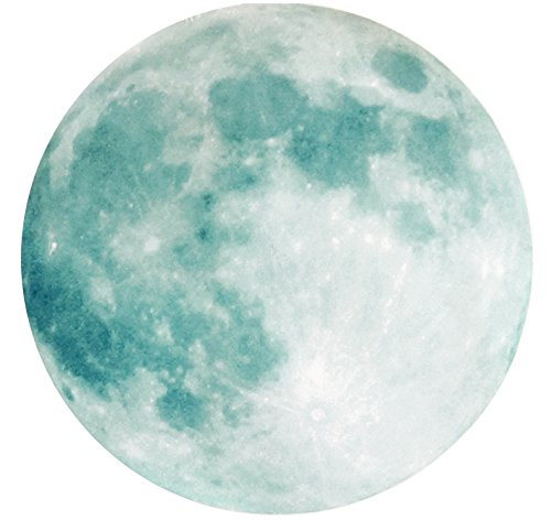 Glow In The Dark Moon Sticker: Majestic Paper Moon Sticker with Powerful, Long-Lasting Glow - Addie and Emma's