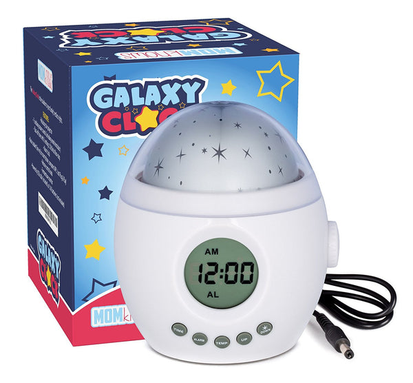 Galaxy Clock by MomKnows. Soothing Star Projector Sound Machine