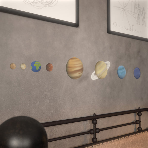 Glow In Dark Stars and Planets Supernova: 8 Realistic Planets and 40 Glowing Stars - Addie and Emma's