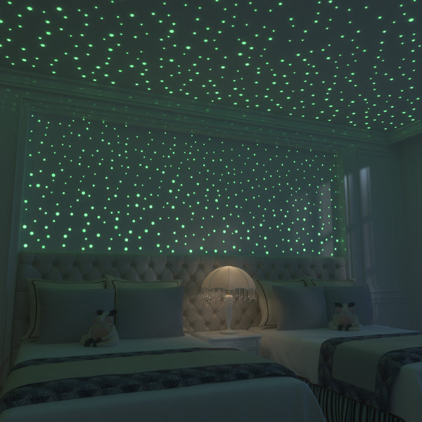 Glow In The Dark Stars: 824 Realistic 3D Stars For Ceiling Or Walls In 4 Sizes - Addie and Emma's