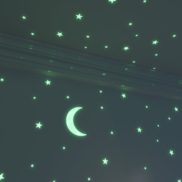 Glow Moon and Glow Stars: 1 Foot Moon and 40 of the Brightest Glow in the Dark Stars