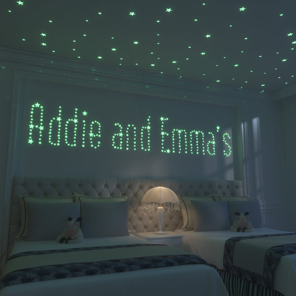 Glow Moon and Glow Stars: 1 Foot Moon and 40 of the Brightest Glow in the Dark Stars - Addie and Emma's