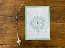 Load image into Gallery viewer, Chakra Moonstone Pendulum w/ Pendulum Card
